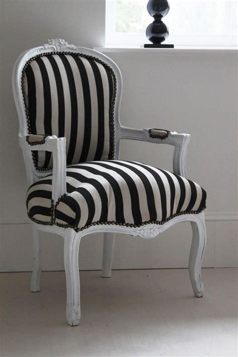 Black Bedroom Chair by Black And White Striped Armchair Quot Hermione Quot Decor Ideas