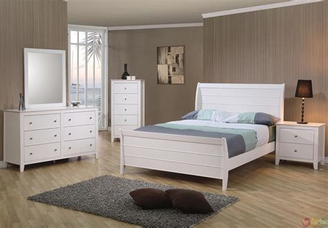Bedroom Sets Nh by Selena White Sleigh Bed Bedroom Set