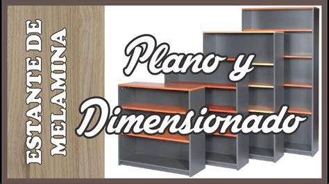 plano de  mueble de melamina clase  youtube