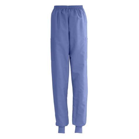 medline comfortease knit cuff cargo scrub pants ciel blue