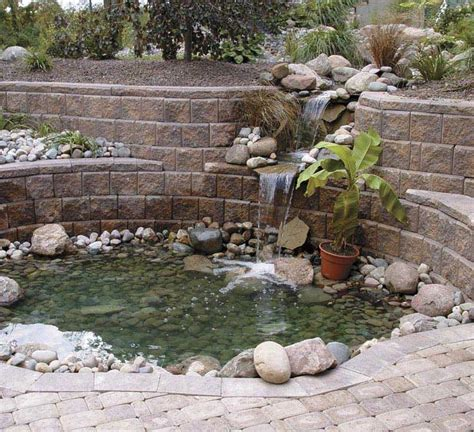 how to build a waterfall wall how to build a rock wall waterfall description from landscapinggallery info i searched for