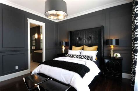 black bedroom interior designs dramatic  elegant