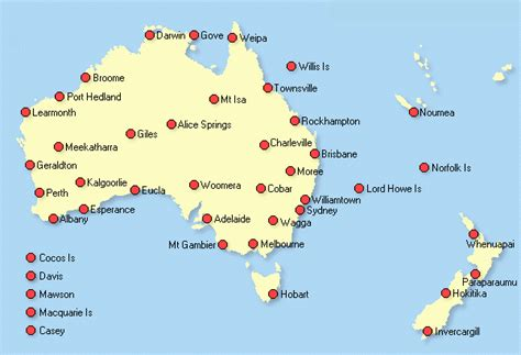maps  australia  cities  travel information