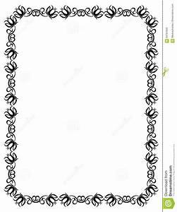 Cadre Noir Et Blanc : cadre noir et blanc avec des silhouettes de fleurs illustration de vecteur illustration du ~ Teatrodelosmanantiales.com Idées de Décoration