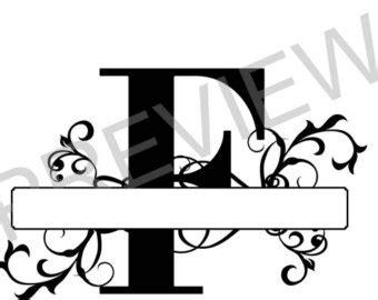 split monogram svg letter  regal split alphabet vector etsy