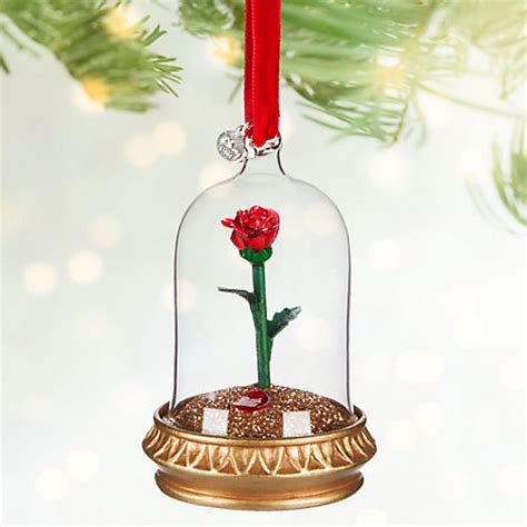 beauty   beast rose christmas decoration