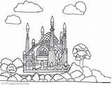 Masjid Coloring Pages Getdrawings Printable Getcolorings sketch template