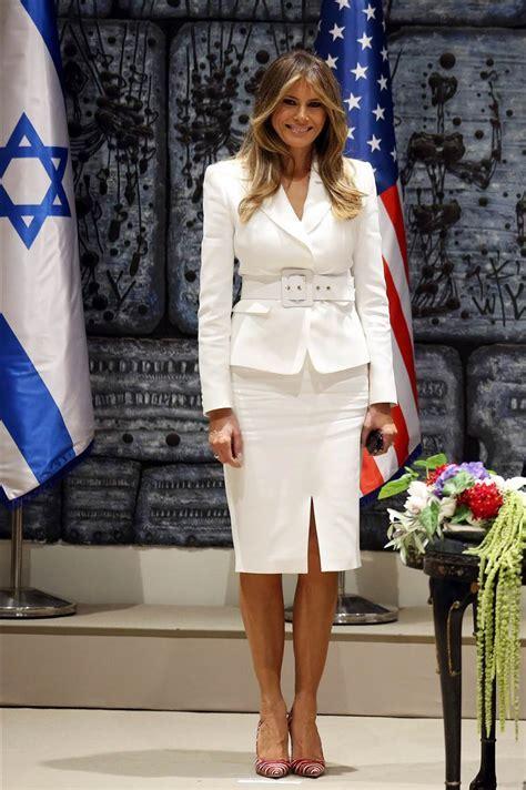 Melania Trump S Fashion Forward International Travel Style Today Com