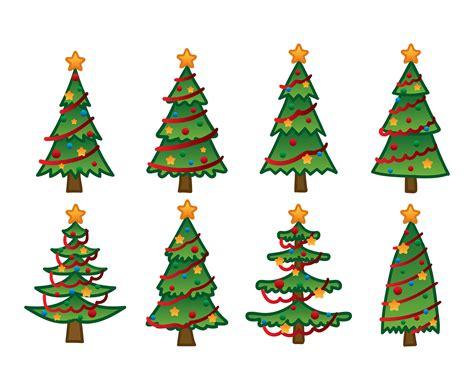 cartoon christmas tree hand drawing   vector