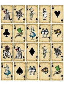 Alice Wonderland Playing Cards