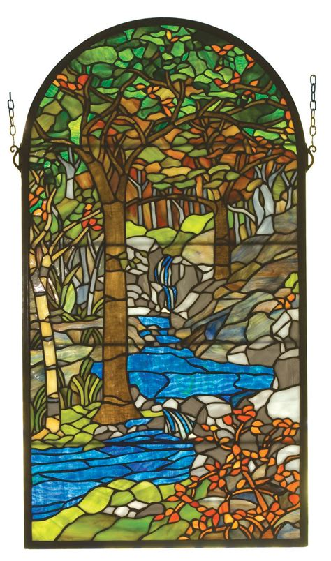 tiffany stained glass l meyda 98255 tiffany waterbrooks stained glass window