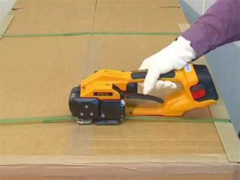 cordless friction weld strapping tool demonstration youtube