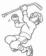 Coloring Pages Hockey Player Visit Meals Nick sketch template