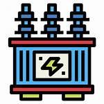 Transformer Power Electronics Icon Icons Voltage Energy