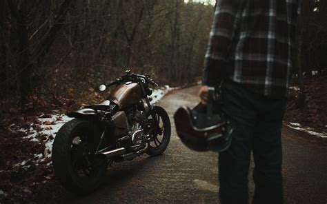 Bobber, Motorcycle, Man Wallpaper