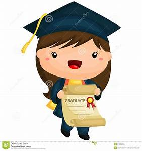 Graduation Girl Stock Vector - Image: 57268465