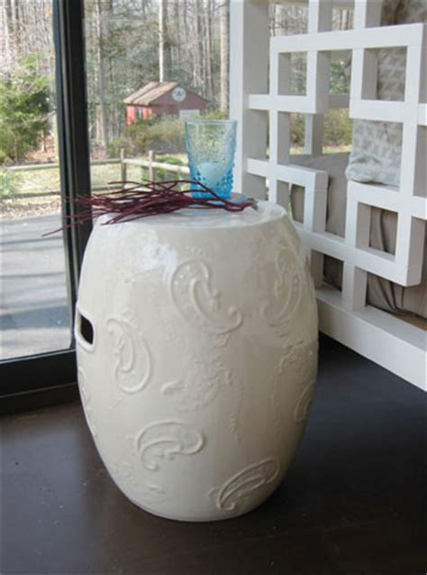 we picked up this lovely ceramic garden stool on