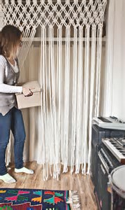 Image result for macrame curtain a beautiful mess