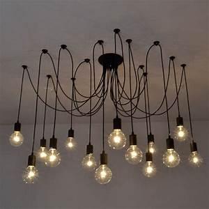 Vintage edison industrial style chandelier pendant lights retro diy ceiling lamp