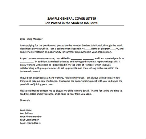 14017 simple general cover letter 51 simple cover letter templates pdf doc free