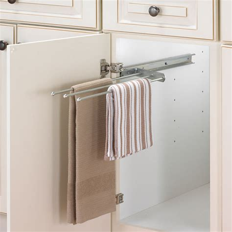 kitchen towel bars ideas cabinet pull out towel bar chrome in kitchen towel holders