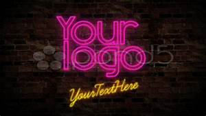 After Effects Project VideoHive Neon Logo on the Wall