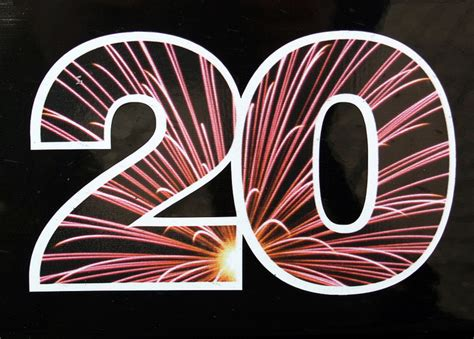 Colorful Number 20 Clipart Png