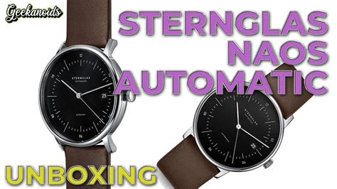 Sternglas Naos Automatic Watch Unboxing | Automatic watch ...