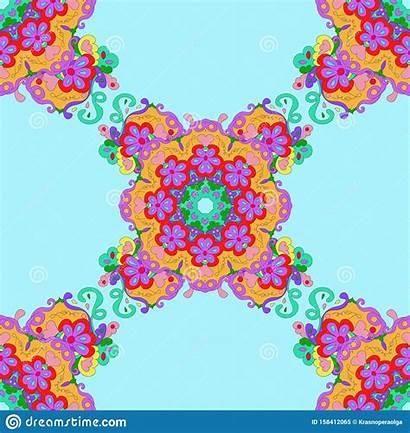 Pattern Mandala Fills Arabic Textures Seamless Surface