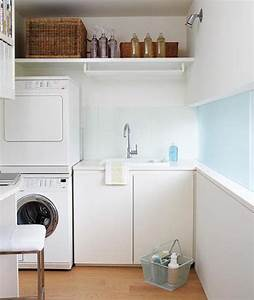 20 small laundry room ideas white and clean solutions for Small laundry designs