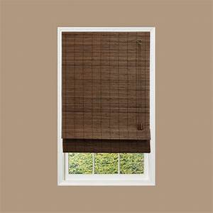 home decorators collection espresso fine weave bamboo With 32 inch roman shades