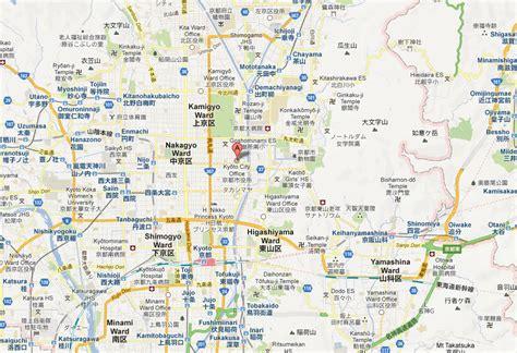 kyoto map  kyoto satellite image