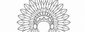 Indian Headdress Template  U2013 Large