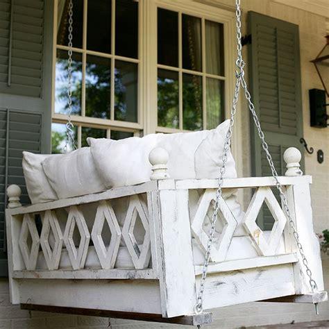 hammmade modern hanging swing bed  porch