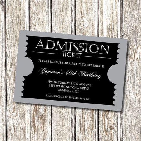 admission ticket invitation formal personalised