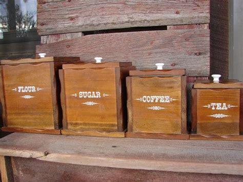wooden kitchen canister sets set of four vintage wooden canister sets mid century