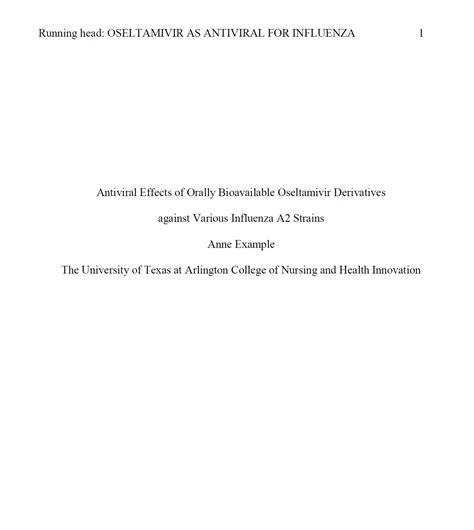 Apa Format Title Page Formatting Title Page Apa Guide Based On The 6th
