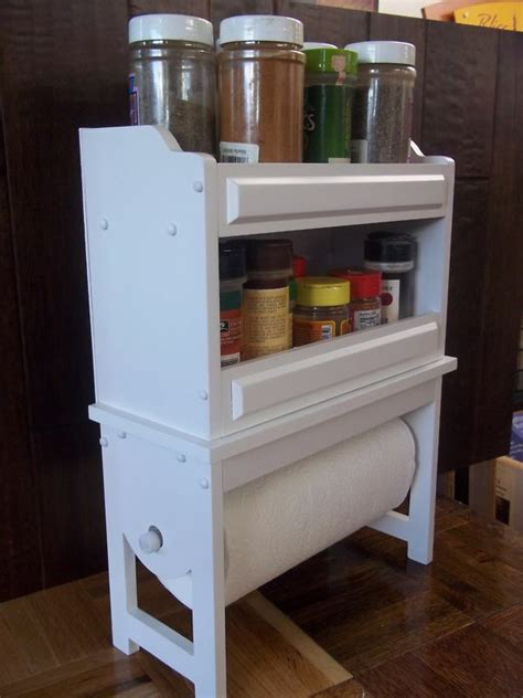 Spice Rack Paper Towel Holder by Spice Rack Paper Towel Holder In White New Available In