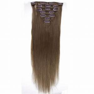 22 Inch Straight Clip In Remy Hair Extensions 8 Light