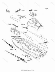 Kawasaki Jet Ski 1995 Oem Parts Diagram For Decals Jt750