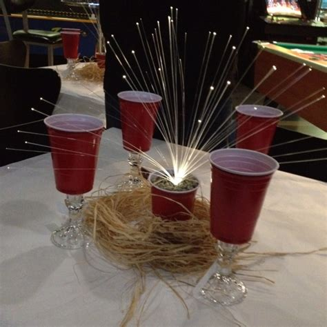 my red solo cup crawfish boil table decorations pic with