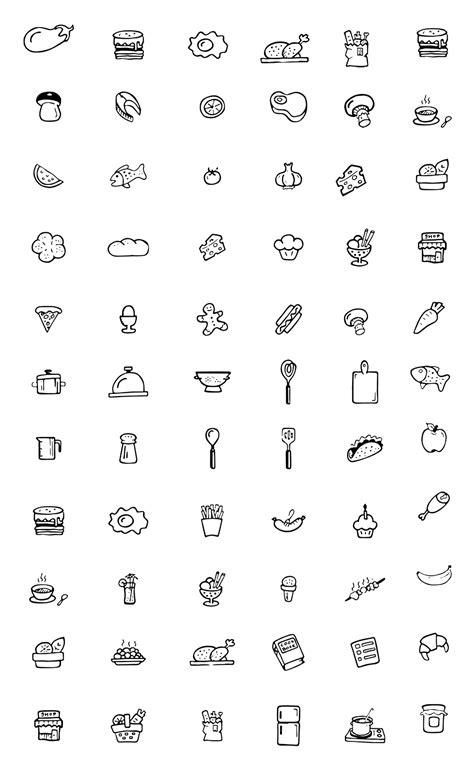 coloriage de cuisine coloriage icones cuisine à imprimer