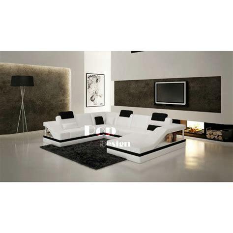 Canape Panoramique - canapé d 39 angle design panoramique en cuir toronto pop