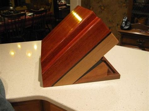 hand crafted custom knife block  woodworking