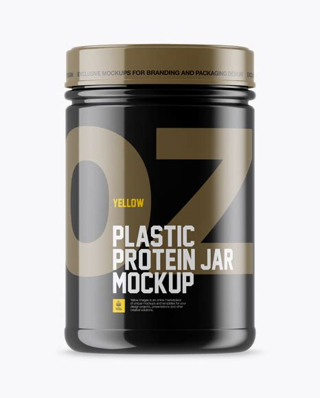 100+ vectors, stock photos & psd files. Glossy Protein Jar Mockup in Jar Mockups on Yellow Images ...