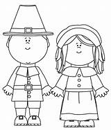 Pilgrim Coloring Pages Thanksgiving Printable Pilgrims Clip Clipart Cute Cartoon Template Simple Characters Birthday Cliparts sketch template