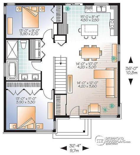 small modern floor plans w3129 v1 small affordable modern house plan with open