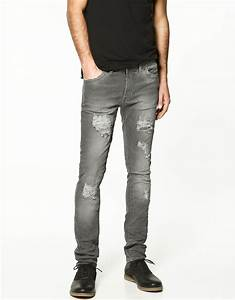 Zara Ripped Skinny Jeans in Gray for Men (grey) | Lyst
