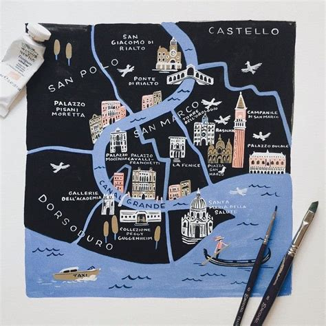 venice ive  working   map illustrations