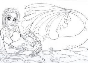 Mermaid Coloring Pages Coloringsuitecom